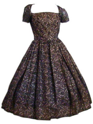 1950s Lace Illusion Dress