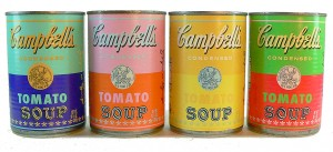 These Andy Warhol soup cans cost $12 each in 2004.