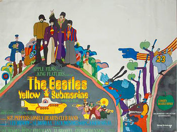 U.K. movie poster for Yellow Submarine, United Artists, 1968.