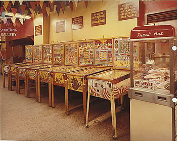 Wonderland Arcade, Kansas City, 1968. The bingo machines.