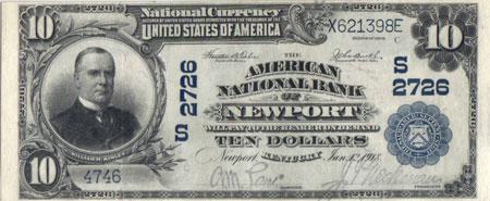 1902 series Newport $10