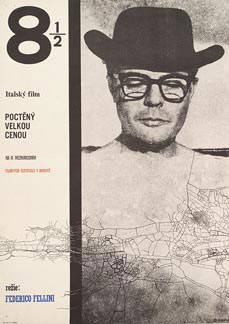 8 1/2 by Felini 1964 Czech poster design. Image source: www.posteritati.com