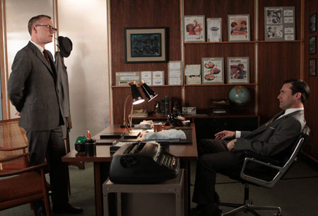Lane Pryce (Jared Harris) and Don Draper (Jon Hamm) in Episode 10.