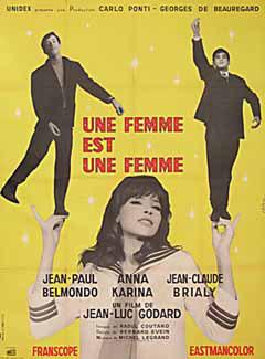 A Woman is a Woman (Une femme est une femme) by Godard 1964 French poster design. Image source: www.posteritati.com
