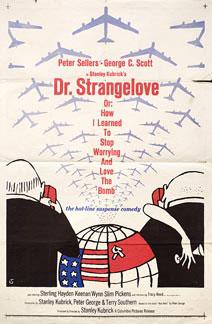 Dr. Strangelove by Kubrick 1964 U.S. poster design. Image source: www.posteritati.com