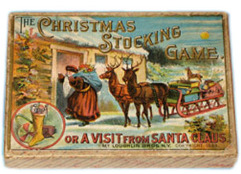 antique christmas board game - Golden Glow Of Christmas Past