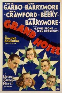 Grand Hotel by Goulding 1932 U.S. poster design. Image source: Margaret Herrick Library Catalog