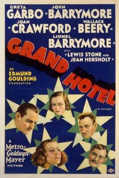 Grand Hotel by Goulding 1932 U.S. poster design. Image source: Margaret Herrick Library Catalog