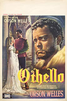 Othello by Welles 1952 Belgian poster design. Image source: www.posteritati.com