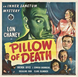 Pillow of Death by Universal 1945 U.S. poster design