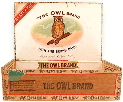 Straiton & Storm became General Cigar in 1917, but OWL remained a leading brand. Cigars made in Fact. 233 1st PA  1920.