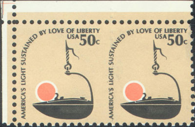 Type 36: This example of Scott 1608 has blind vertical perforations.