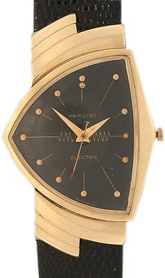 """Interest in Hamilton Venturas (this 14K gold example is from 1957) surged after Will Smith wore one in """"Men in Black."""""""