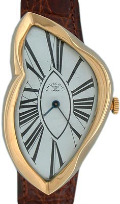 """The paintings of Salvador Dali were probably the inspiration for the Cartier """"Crash"""" from the late 1960s. This 18K gold Churchill version of the same idea is from 1985."""
