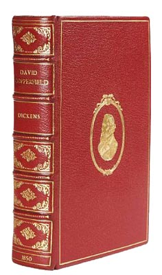 "The first edition in book form of ""David Copperfield"" by Charles Dickens was published by Bradbury and Evans in 1850 and featured 38 engraved plates between its red Morocco gilt covers."
