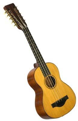 The tiple is like a large ukulele, but with 10 strings. This Martin T-18 is from 1925.