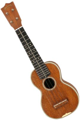 Ukuleles are enjoying a revival, but they have long been a part of Martin's product line. This mahogany Martin Style 3 ukulele is from 1945.