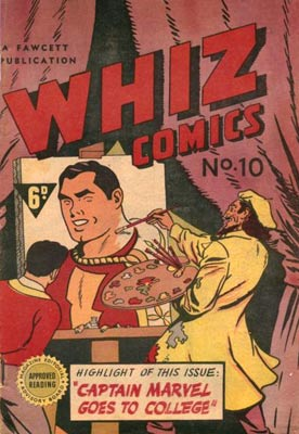 "In 1947, an issue of ""Whiz Comics"" from Australia included a 10-page story about Captain Marvel."