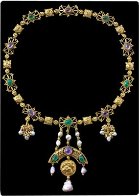 """Kingfisher Necklace"" by John Paul Cooper. Photo courtesy Tadema Gallery, London."