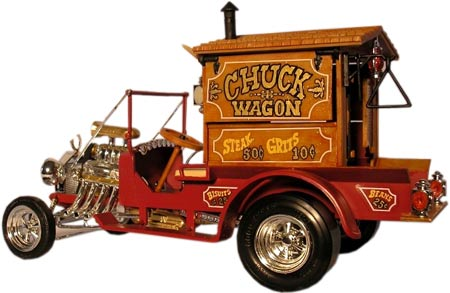The Chuck Wagon was released in 1970 by MPC. David Wilbanks stained the plastic wood on this beauty in antique maple.