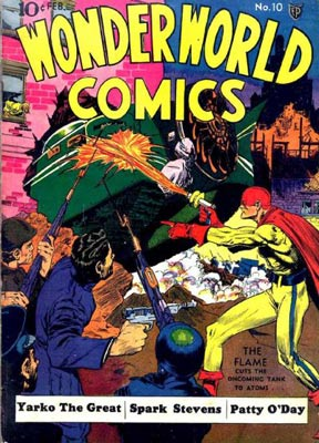 "This cover for ""Wonderworld Comics"" from February of 1940 shows why Lou Fine was one of the most respected artists of the Golden Age."