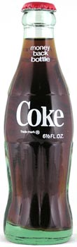 The classic, 6.5-ounce return-for-deposit, ACL Coca-Cola bottle.