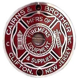 Cairns collectors look for an intact badge inside the helmet.