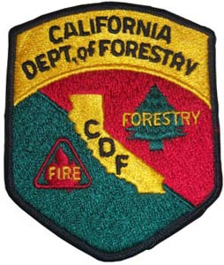 A California Department of Forestry shoulder patch.