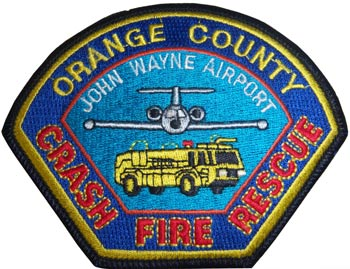 A patch worn by firemen at Orange County's John Wayne Airport.