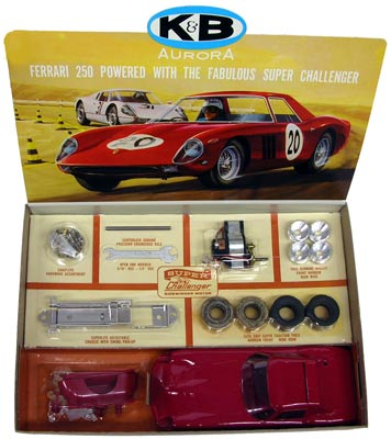 K&B's Ferrari 250 kit came with the company's powerful Super Challenger sidewinder motor.