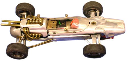Miyazawa slot cars from Japan, such as this Lotus, were made out of aluminum.