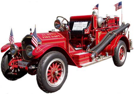 This 1919 American LaFrance Type 40 triple-combination pumper was used by the El Reno Fire Department.