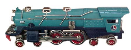 Lionel's Blue Comet set used the same 400e locomotive used during the prewar years, but in a different color.