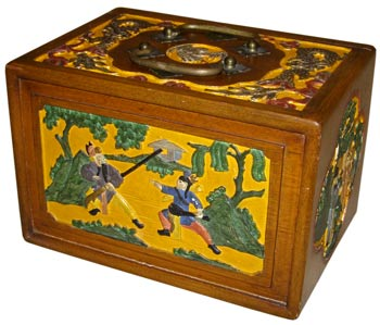 Mahjong sets in carved and painted rosewood boxes are highly prized by collectors.