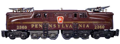 Lionel's 2360 Pennsylvania GG1 electric locomotive was made between 1956 and 1963.