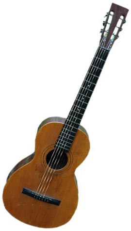 The size of this circa 1898 Howe-Orme instrument is similar to a ukulele, but it's really a guitar.