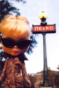Blythe ready for a ride on the Metro.