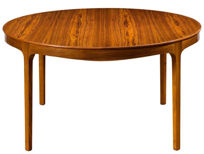 Ole Wanscher/AJ Iversen large ming round coffeetable