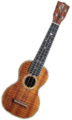 The C.F. Martin Co. 5K soprano, circa 1930, is the Holy Grail for most ukulele collectors. It has koa top, sides, and back, a mahogany neck, an ebony extended fretboard, and pearl inlay.
