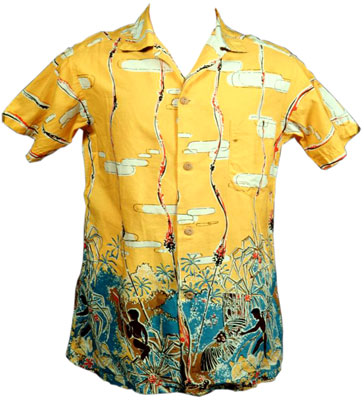 An example of a figure-eight hukilau shirt.