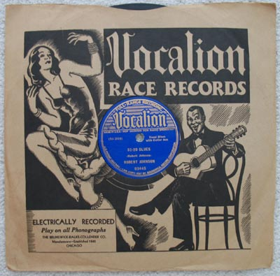 "All of bluesman Robert Johnson's 78s, such as this 1937 copy of ""32-20 Blues,"" are rare and precious."