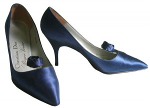 Roger Vivier is credited with designing the first stiletto. This pair for Christian Dior is from 1960 - 1963.