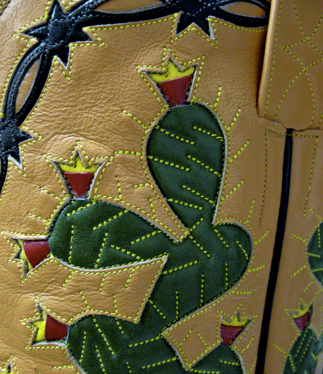 Tex Robin is famous for its stitching, especially of cactus and barbed wire.