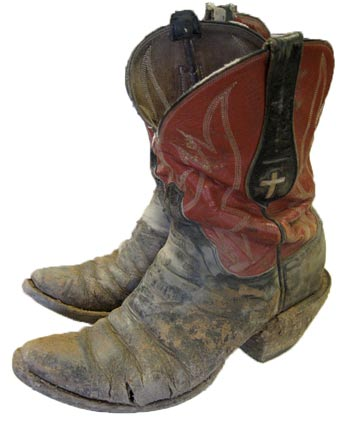 People who wear cowboy boots for a living tend to give their boots a workout, as this pair of James Leddy boots shows.