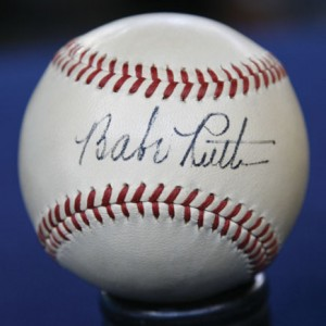 "On a recent episode of ""Antiques Roadshow,"" Dunbar appraised this baseball signed by Babe Ruth for $30,000 to $40,000."