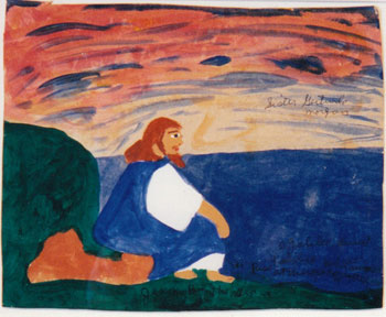 """Jesus by the Sea,"" 1975, by Sister Gertrude Morgan (1900-1980)."