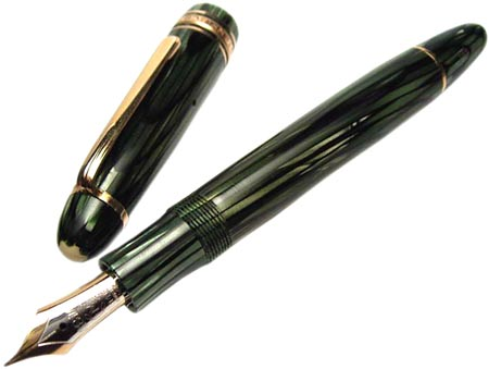 A Montblanc green striated No. 146, from 1949.