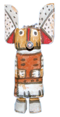 Wilson Tawaquaptewa (1873-1960) was the Bear Clan Chief and religious leader of Old Orayvi. This cute little Tawaquaptewa carving is just 5 3/4-by-2 5/8 inches.