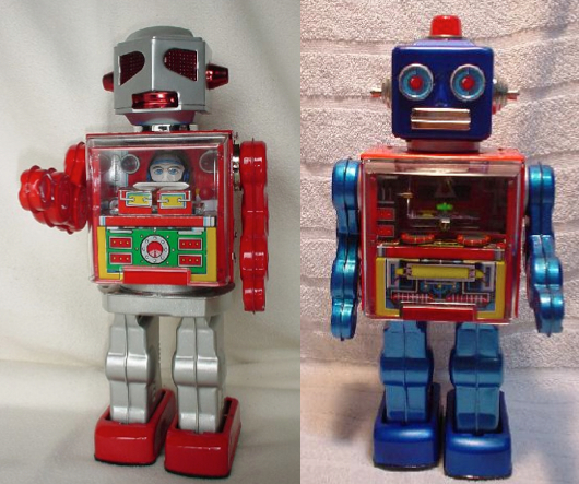 Robot culture is particularly strong in Japan—these examples date from the postwar period.
