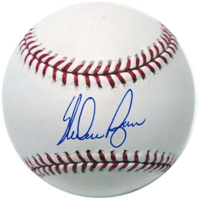A baseball signed by Nolan Ryan is a must-have for any serious Texas Rangers collector.